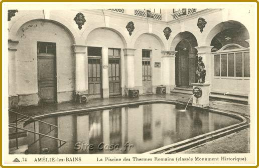 Am lie les bains la piscine des thermes romains for Location maison yverdon les bains